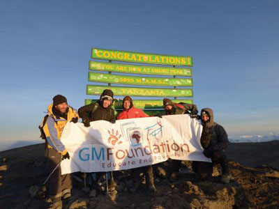 The Magnificent 5 Conquer Kilimanjaro for Education